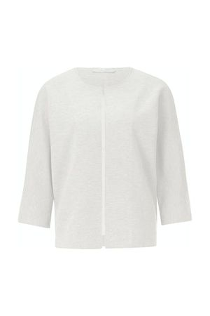 Comfy Sweat Jacket Pearl White