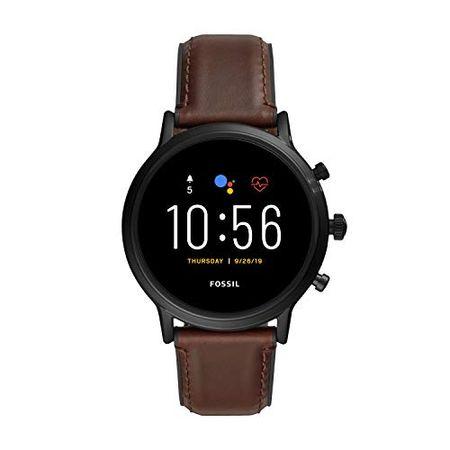 Fossil Caryle HR Heren Digital Touchscreen Gen.5 Smartwatch, met Echt Lederen Armband