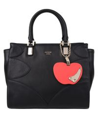 Guess-Handtassen-Fruit Punch Society Satchel -Zwart