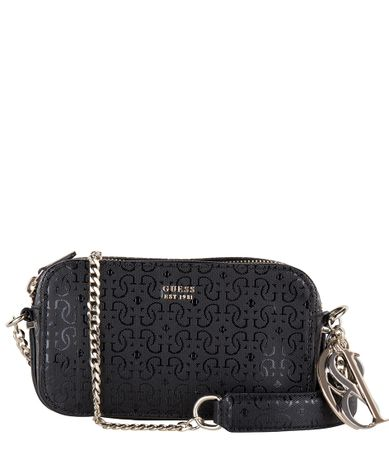 Guess-Handtassen-Tamra Crossbody Camera Bag-Zwart
