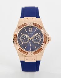 Guess W1053L1 Limelight silicone watch - Navy