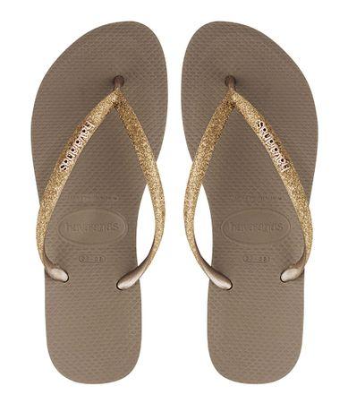 Havaianas Slippers Flipflops Slim Glitter Roségoudkleurig