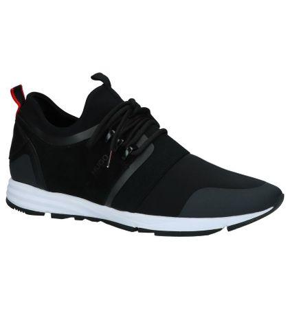 Hugo Boss Hybride Runn Zwarte Slip-on Sneakers