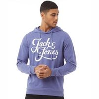 JACK AND JONES Heren Originals Galions Hoodie Gemeleerd Lichtblauw