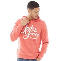 JACK AND JONES Heren Originals Galions Hoodie Rood/Oranje