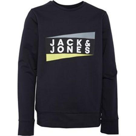JACK AND JONES Jongens JCO Anton Sweater Zwart Marinelbuaw
