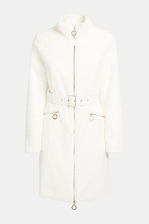 Marbree Fur Coat Frosted White Multi