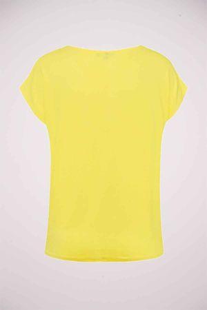 More & more, T-shirt, geel, Dames, Maat: onesize