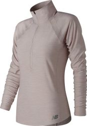 New Balance In Transit Half Zip Sporttrui Dames - Grey