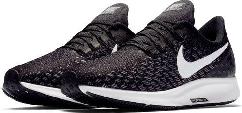 Nike Air Zoom Pegasus 35 Sportschoenen Dames - Black/White-Gunsmoke-Oil Grey