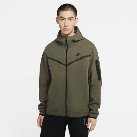 Nike Sportswear Tech Fleece Hoodie met rits voor heren - Groen
