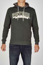 Petrol Sweater met kap, Groen, Heren