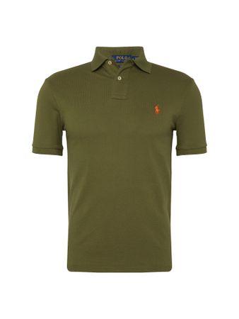 POLO  Shirt 'SSKCSLM1-SHORT SLEEVE-KNIT'  olijfgroen