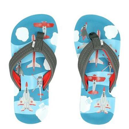 Reef Ahi Planes slippers grijs