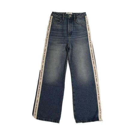 Regular Jeans With Logo Side Band
