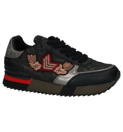 Replay Fuzzye Camouflage Sneakers met Verborgen Sleehak