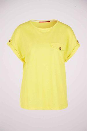 S. oliver, T-shirt, geel, Dames, Maat: onesize