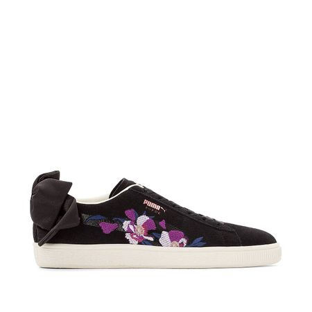 Sneakers Wn Suede Bow Flowery