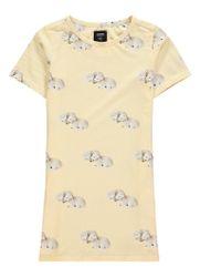 Snurk Little Lambs T-shirt jurk met zakken en dessin