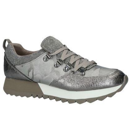 s.Oliver Zilveren Geklede Sneakers