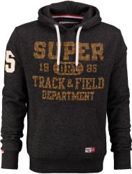Superdry donkergrijze sweater hoodie