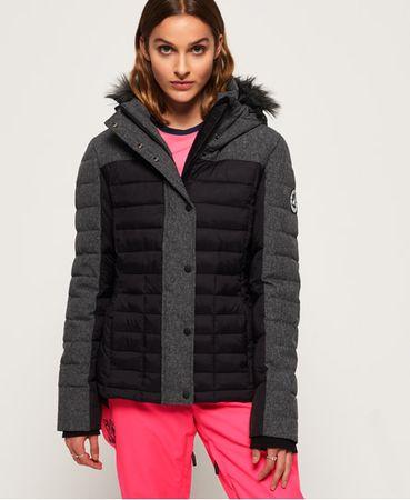 Superdry Elements Tweed Hybrid jas met capuchon