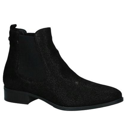 Tamaris Zwarte Chelsea Boots met Glitter