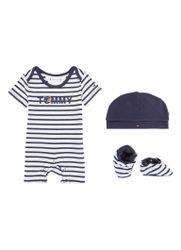 Tommy Hilfiger Babypak met babyslofjes en muts in giftbox 3-delig