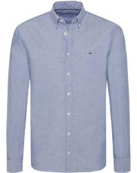 Tommy Hilfiger Overhemd Oxford Blauw