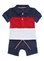 Tommy Hilfiger Set met polo en shorts van badstof 2-delig