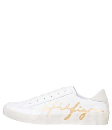 Tommy Hilfiger Sneakers Th Signature Leather Wit