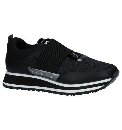 Zwarte Sneakers met Glitters Tommy Hilfiger